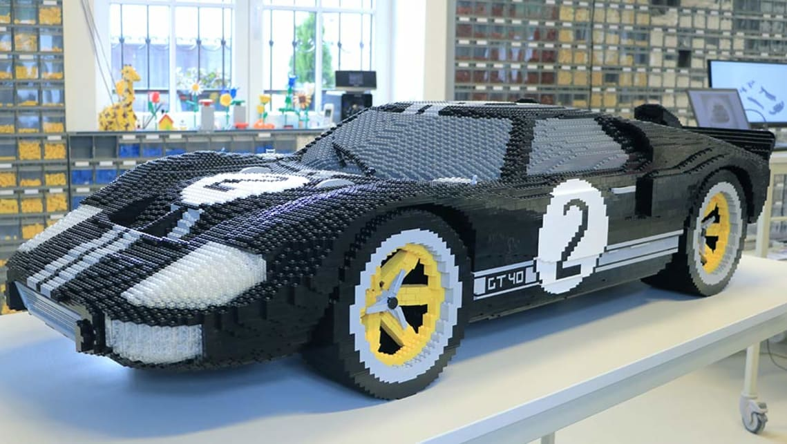 Ford Gt Replicated With Lego