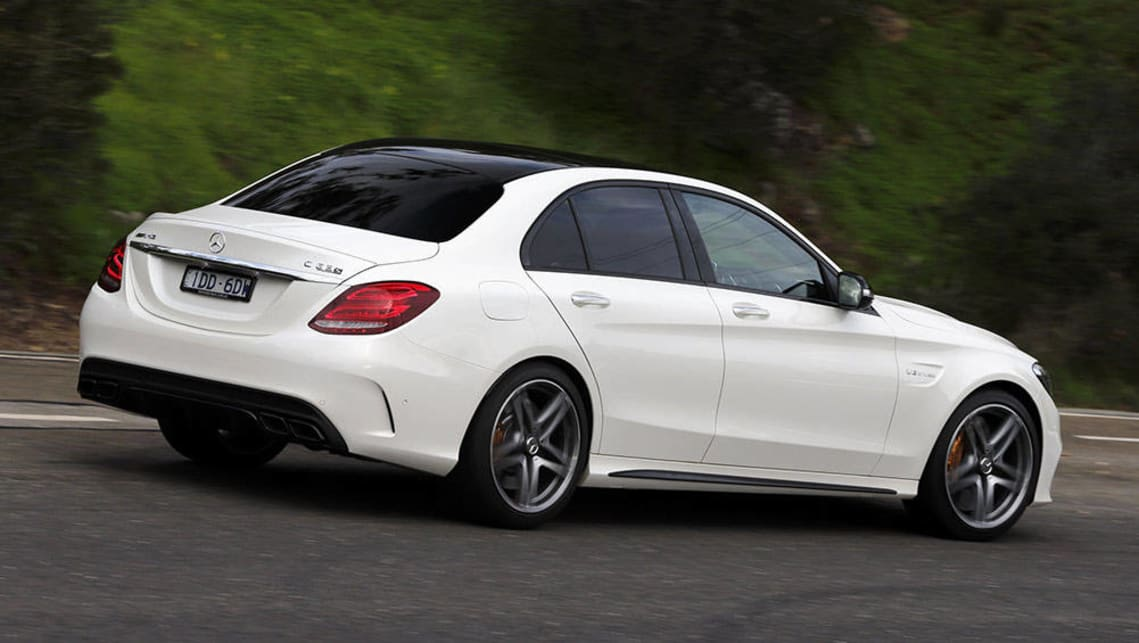 Mercedes amg c63 s 2016 review carsguide for Mercedes benz c63 amg sedan