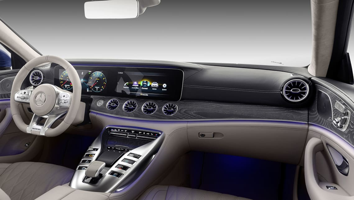 The central console spans from the dash to between the rear seats.