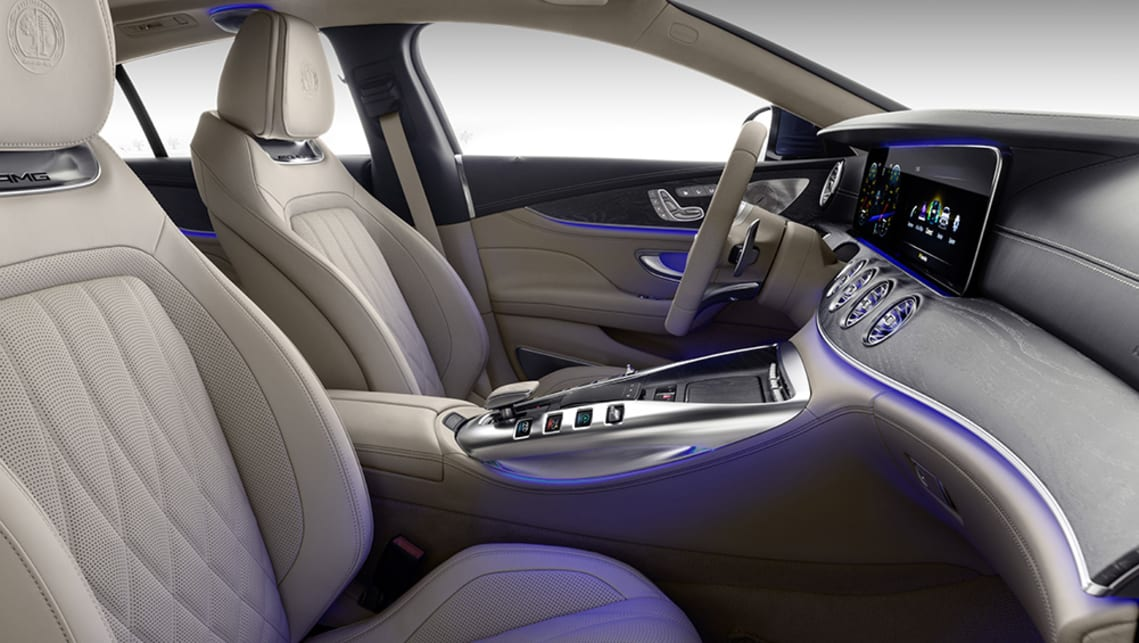 AMG will offer a luxury-focused interior package with tan and silver trim finishes.