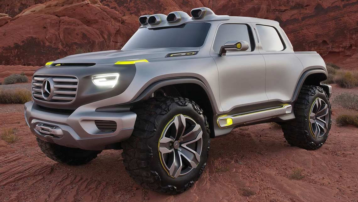 An artist's impression of how the Mercedes-Benz ute could look. Picture: Supplied