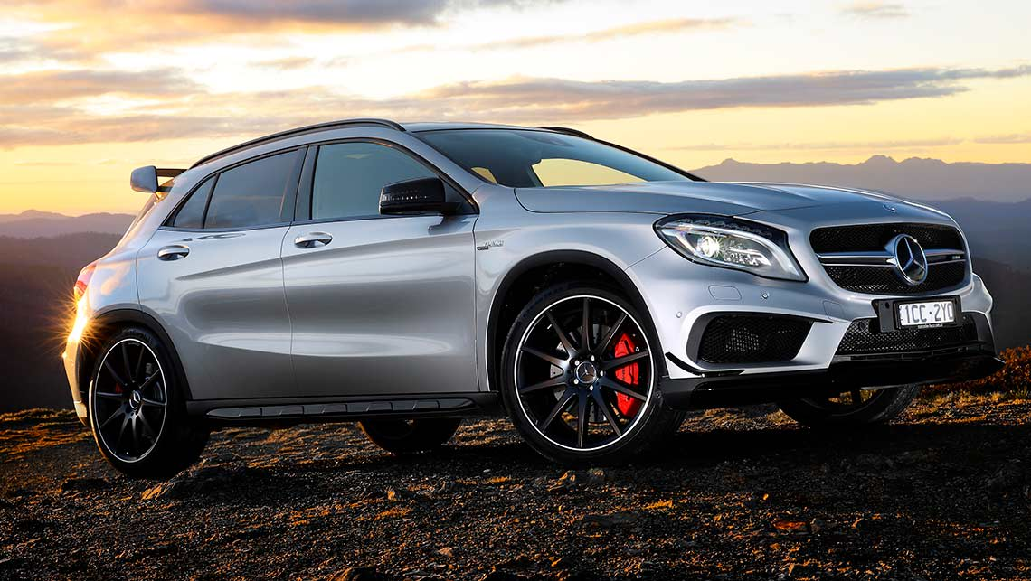 2014 mercedes benz gla 45 amg review first drive carsguide. Black Bedroom Furniture Sets. Home Design Ideas