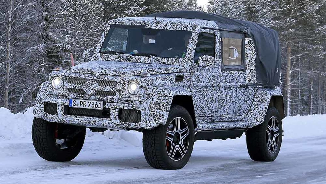 mercedes benz g500 4x4 squared ute spy pics car news. Black Bedroom Furniture Sets. Home Design Ideas