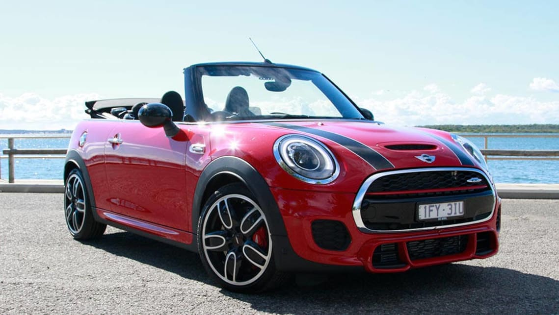mini cabrio john cooper works manual convertible 2016 review carsguide. Black Bedroom Furniture Sets. Home Design Ideas