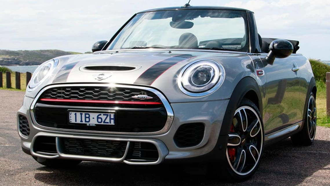 mini cabrio john cooper works auto convertible 2016 review | carsguide