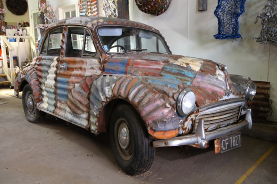 this corrugated iron wrapped hq holden is more aussie than you carsguide oversteer. Black Bedroom Furniture Sets. Home Design Ideas