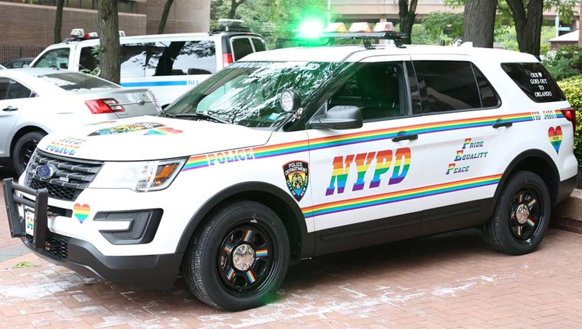 NYPD cop car goes rainbow for gay pride - Car News | CarsGuide