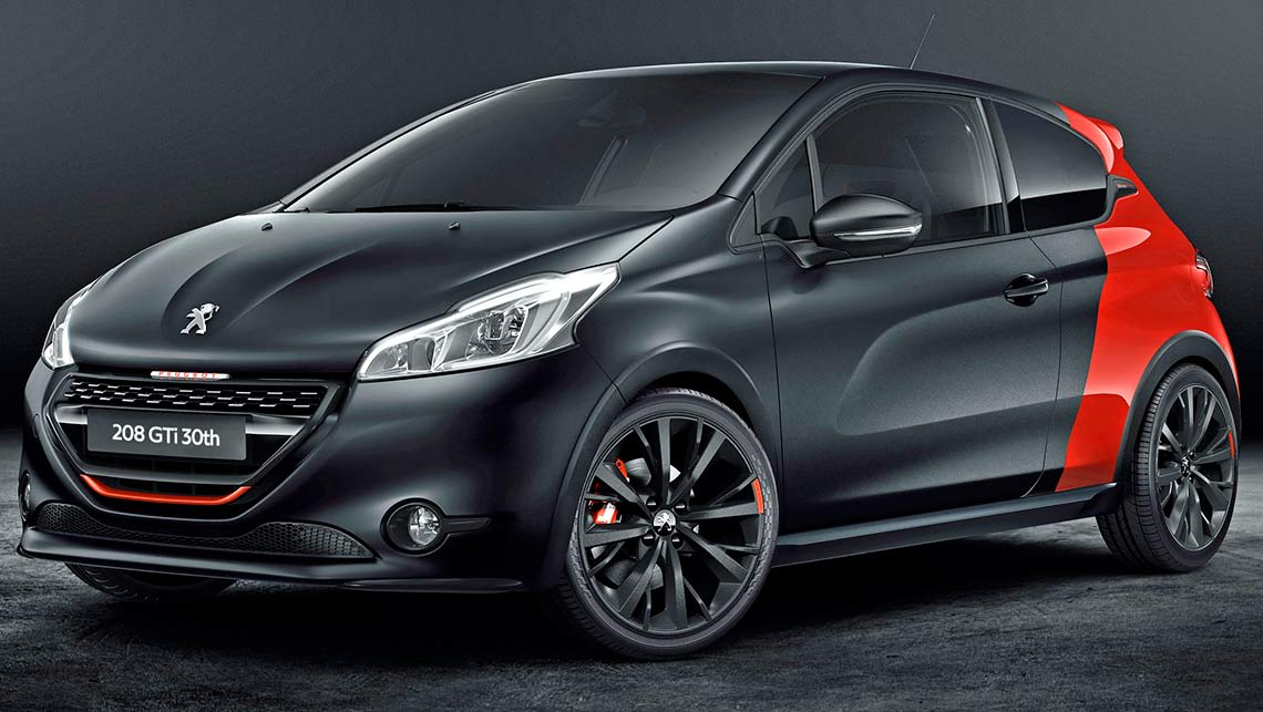 2015 peugeot 208 gti 30th anniversary revealed car news carsguide. Black Bedroom Furniture Sets. Home Design Ideas