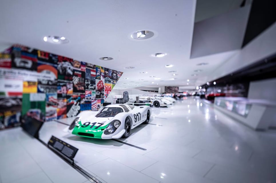 The '50 Years of the Porsche 917 - Colours of Speed' at Porsche's Stuttgart museum runs from May 14 - September 15, 2019.