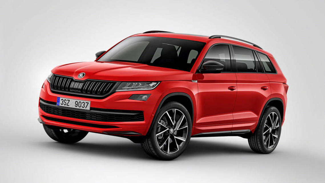 2018 skoda kodiaq sportline and scout revealed ahead of geneva car news carsguide. Black Bedroom Furniture Sets. Home Design Ideas