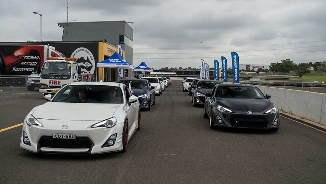 Toyota 86s at a recent Toyo-sponsored track day.
