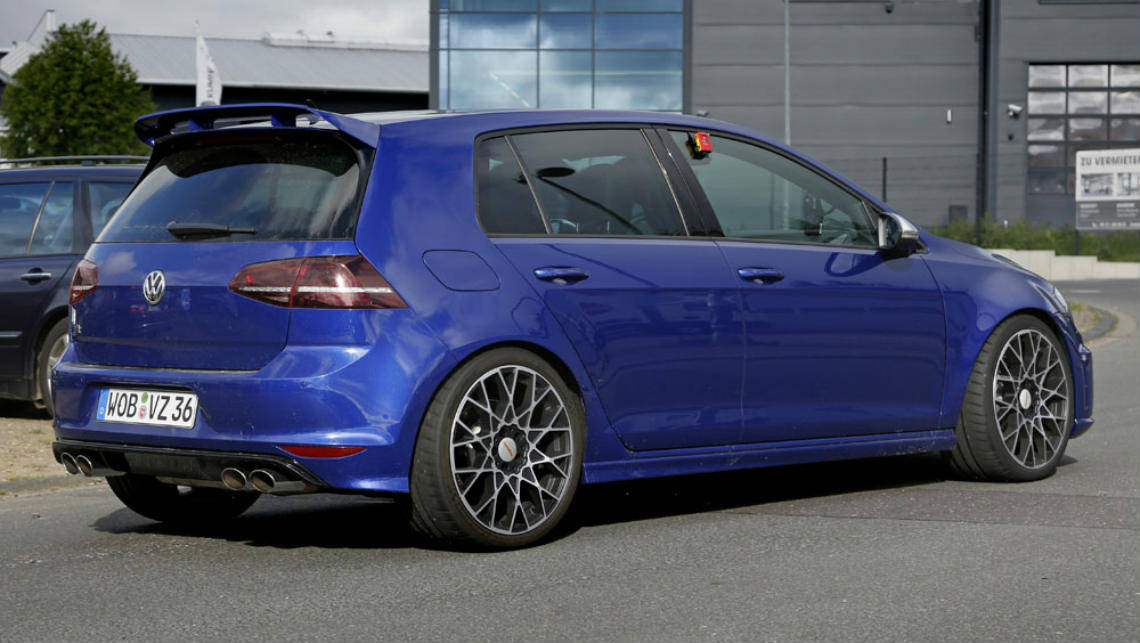 VW Golf R400 spied testing - Car News | CarsGuide