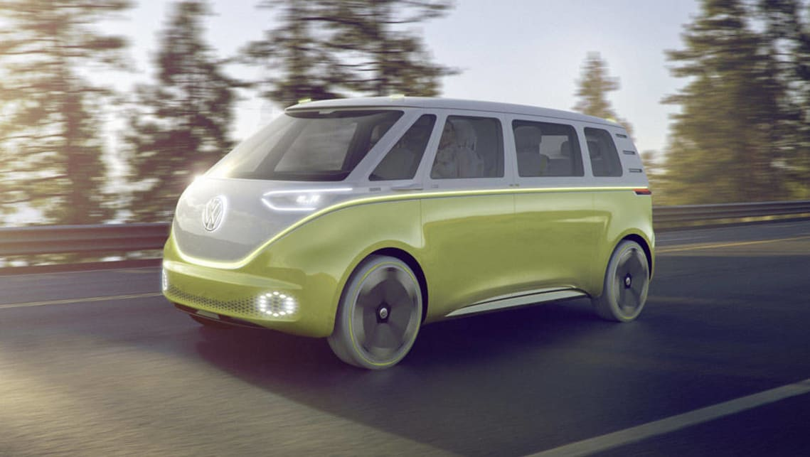 volkswagen reveals id buzz kombi concept in detroit video car news carsguide. Black Bedroom Furniture Sets. Home Design Ideas