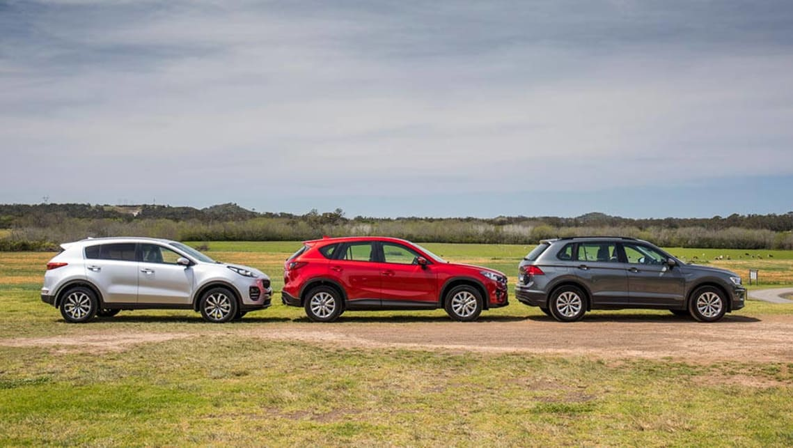 Kia Sportage, Mazda CX-5 and Volkswagen Tiguan 2016 review ...