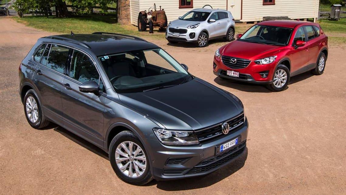 Kia Sportage, Mazda CX 5 And Volkswagen Tiguan 2016 Review: Comparison