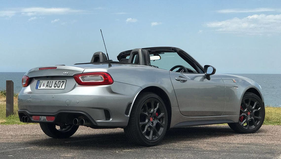 abarth 124 spider manual convertible 2016 review carsguide. Black Bedroom Furniture Sets. Home Design Ideas