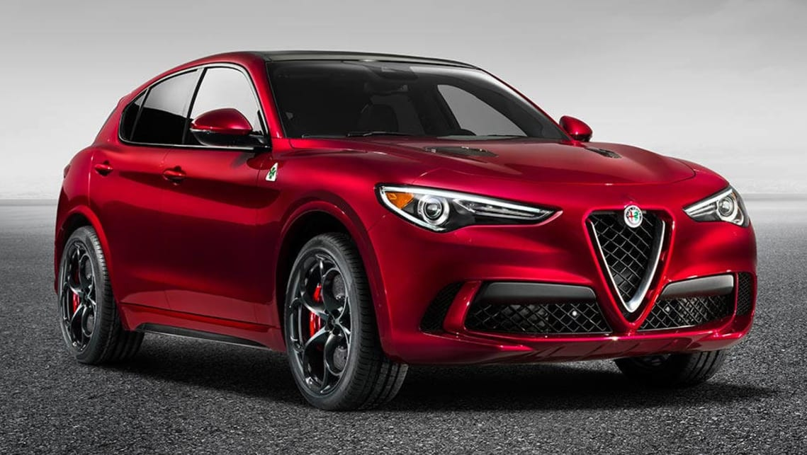 2017 alfa romeo stelvio suv revealed in la video car news carsguide. Black Bedroom Furniture Sets. Home Design Ideas