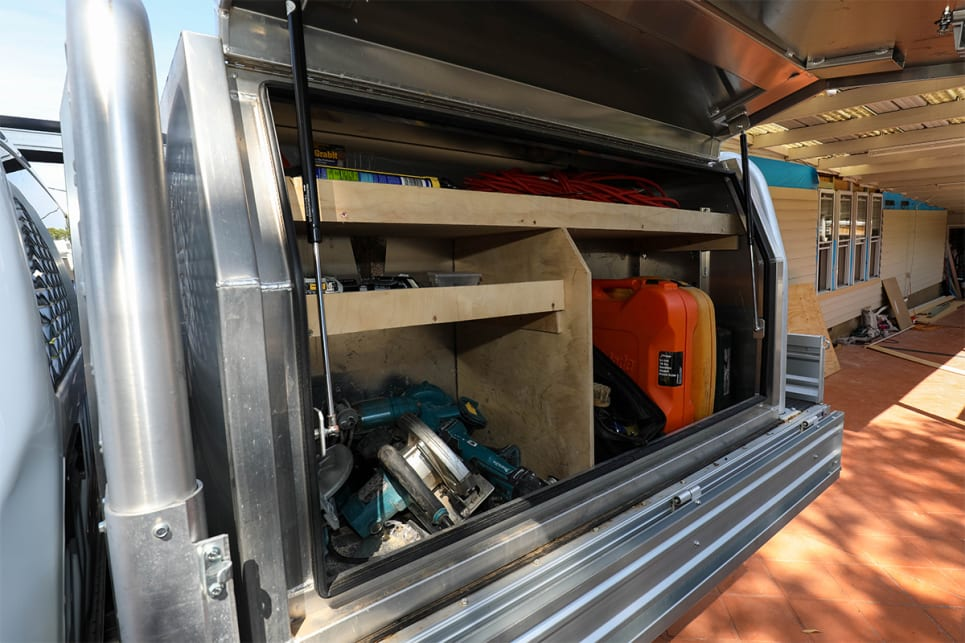 Aluminum ute canopies can incorporate shelving, drawers, tool boxes and trays. (image credit: Tom White)