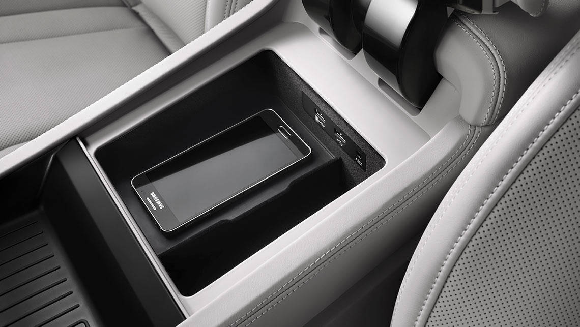 The centre console of the Audi Q7 can charge your phone wirelessly.