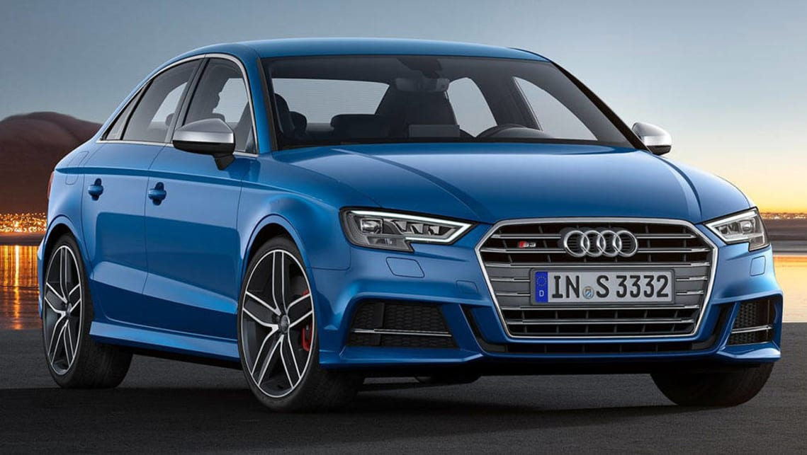 2017 rs3 sedan launches audi sport brand in paris car news carsguide. Black Bedroom Furniture Sets. Home Design Ideas