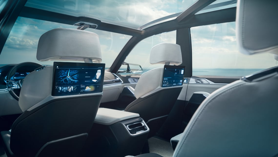 The second-row passengers share the personalised infotainment with the front occupants.