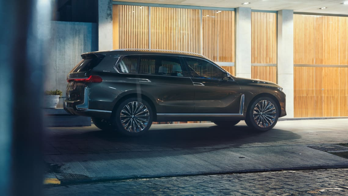 In profile the X7 has some of the bull-nosed styling and side-glass elements of the Volvo XC90.