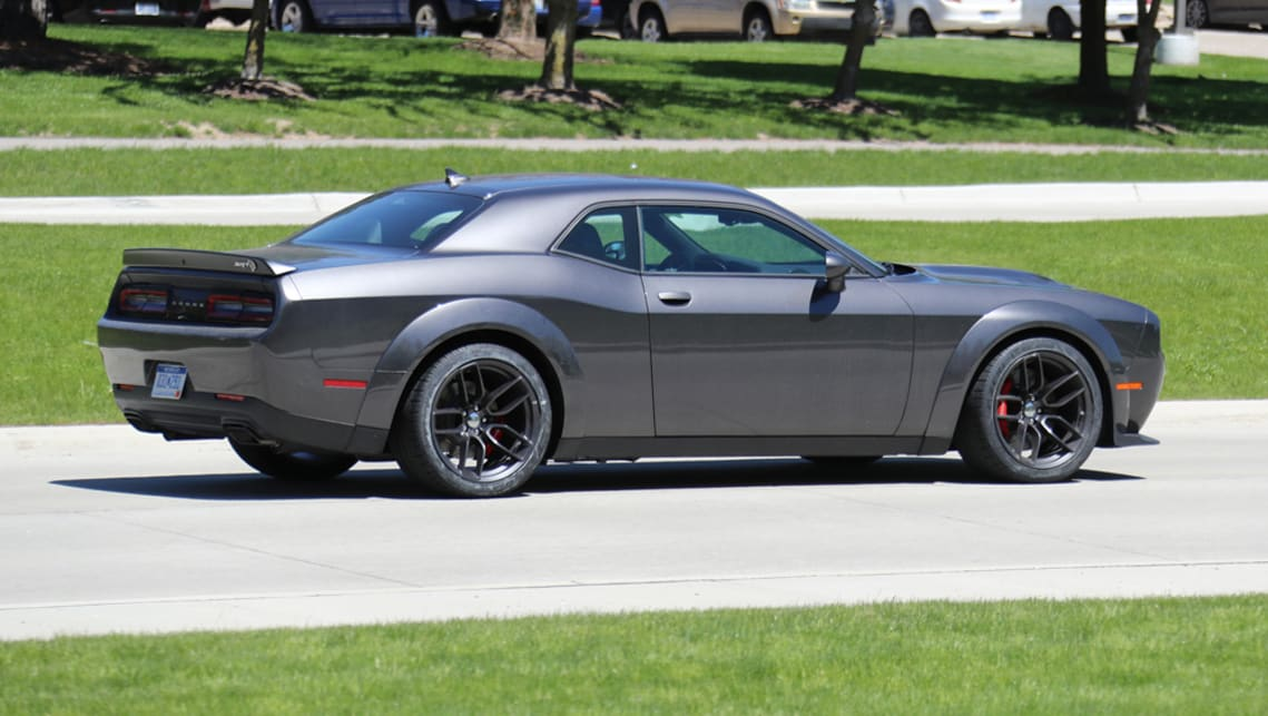 Dodge Challenger Srt Hellcat Wide Body Spied Testing Car