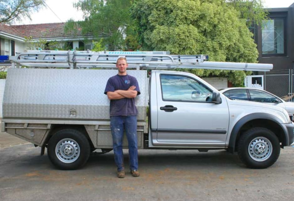 Hugh Eastwood with his 2003 Holden Rodeo RA