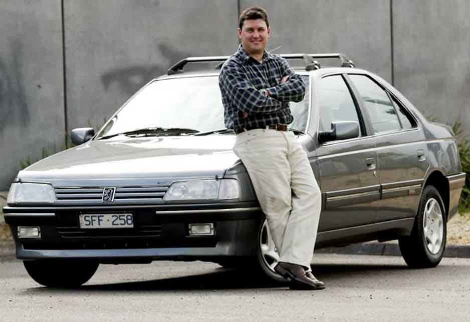 Darren Dumble proud owner of 1994 Peugeot 405