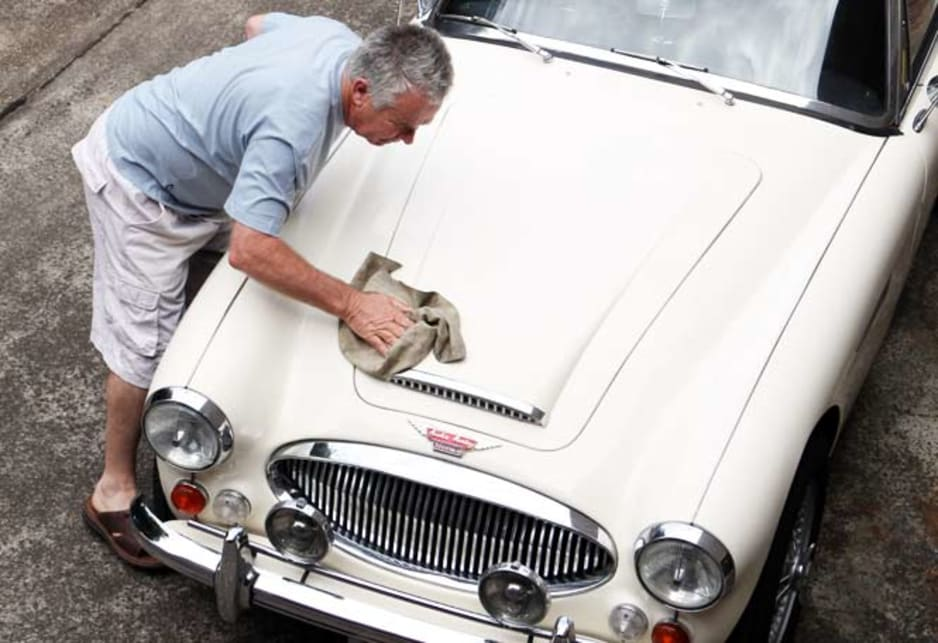 Richard Horwood and his classic Austin Healeys