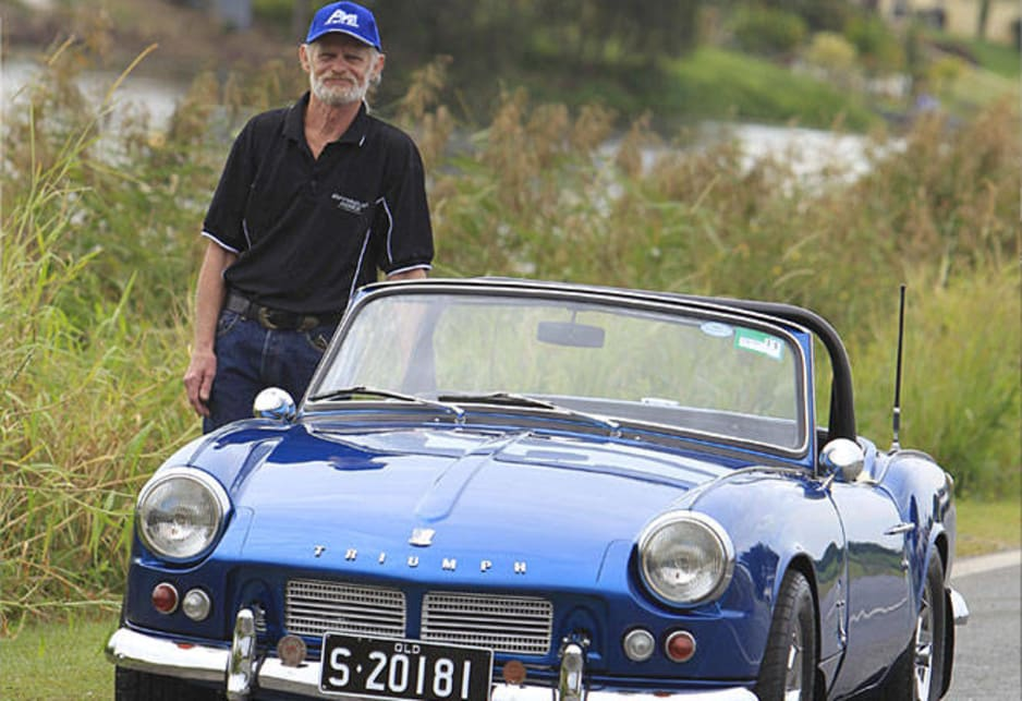 Lance Ezzy with his 1965 Triumph Spitfire 4 Mk2