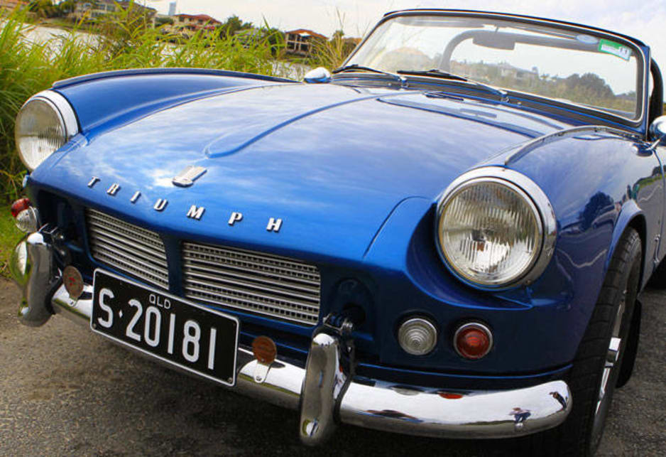 Front of the Triumph Spitfire.