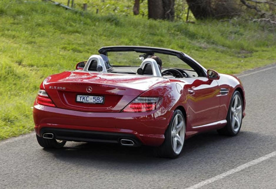 Mercedes benz slk350 review carsguide for Mercedes benz two seater