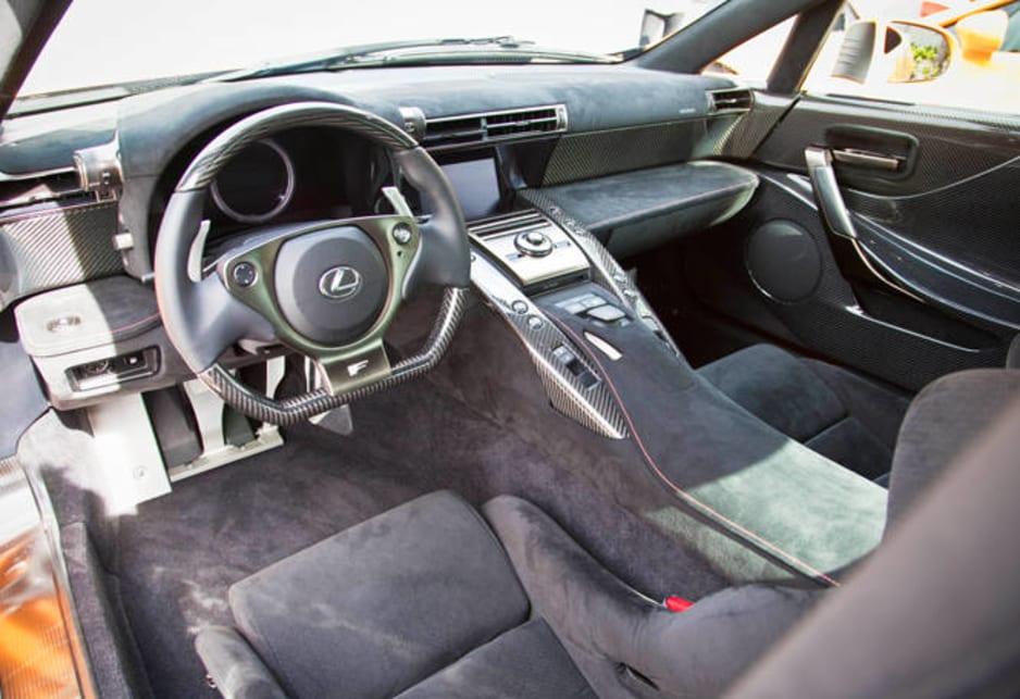 lexus lfa black interior. lexus lfa black interior