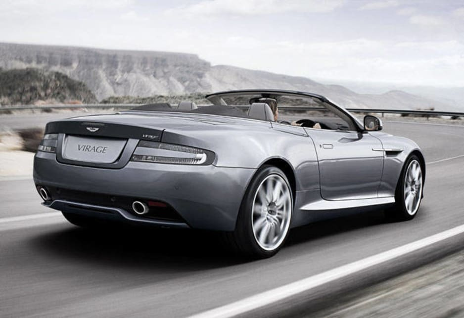 The Aston scores with brilliant convertible styling, all the luxury you can really want in a two-plus-two convertible.