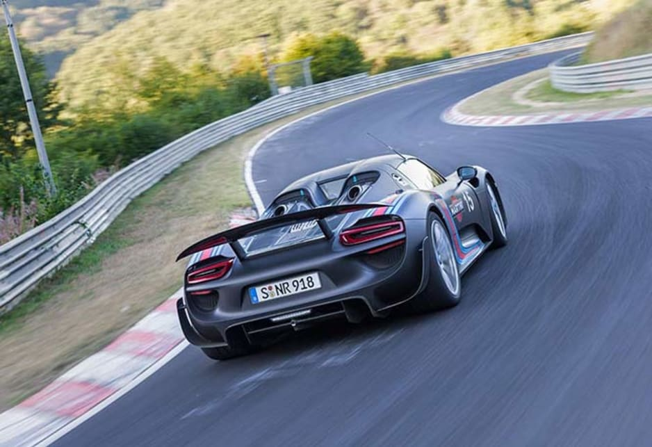 Porsche 918 Spyder Claims Ring Crown