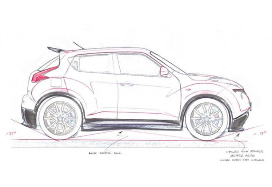nissan juke-r production sketches leaked