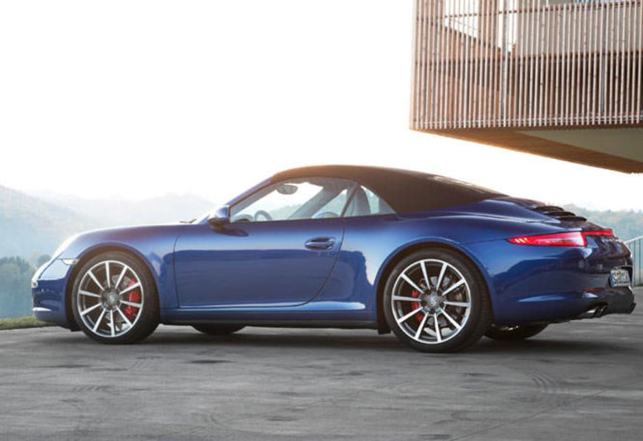 At $289,400 the stove hot 3.8-litre Carrera S 4S represents a rise of a Polo with DSG. The  range topping $315,000 Carrera Cabriolet is getting into Golf country over the car that preceded it.