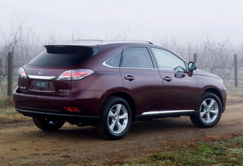 The RX range has previously relied on V6 engines but this model has a 4-cylinder 2.7-litre petrol unit which pumps out a respectable 132kW/252Nm. Lexus says the RX270 has a combined fuel-consumption of 9.7-litres per 100 kilometres.