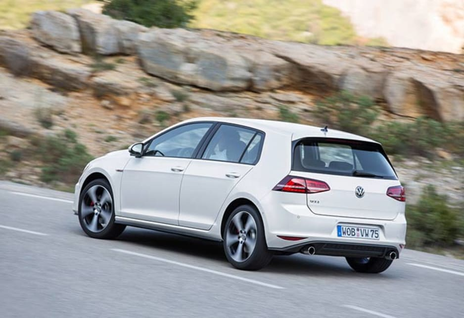 In Sport mode, the GTi retains a large measure of comfort but still holds the five door hatch comfortably through fast corners even on bumpy roads.
