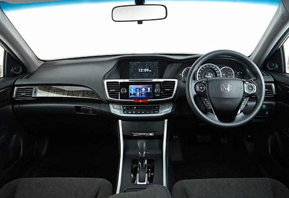 The interior of the Accord has two large, easy to read, screens for the driving and infotainment systems. Seating is comfortable and there's good legroom in the rear even when a tall person is driving. Headroom is reduced when a sunroof is installed, but remains acceptable.