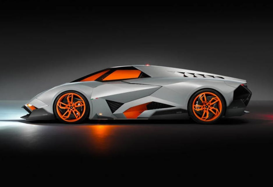 the concepts name which is spanish for selfish has been applied because of the single seat design - Lamborghini Egoista Police