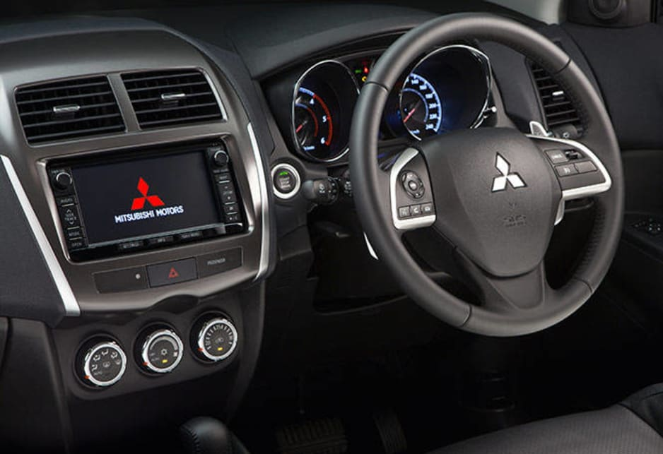 Like the Outlander and Challenger, the ASX auto offers behind-the-steering-wheel paddle shifting if you remember to use them or the transmission lever can be moved into manual mode.