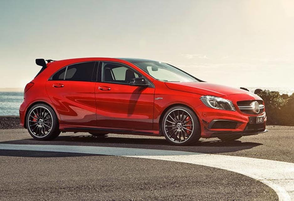 mercedes benz a45 amg 2014 review carsguide. Black Bedroom Furniture Sets. Home Design Ideas