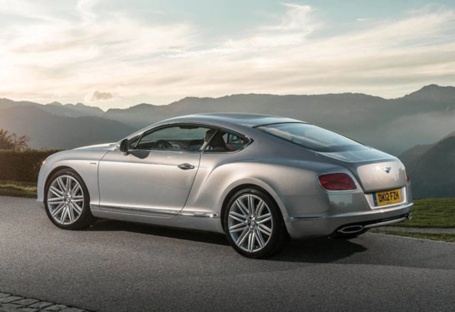 It's accompanied by a slingshot sensation that is completely at odds with a 2400kg kerb weight - Bentley says 100km/h in 4.2 seconds and the old 100mph mark at 9 seconds and it feels as though it doesn't even have to try hard to get close.