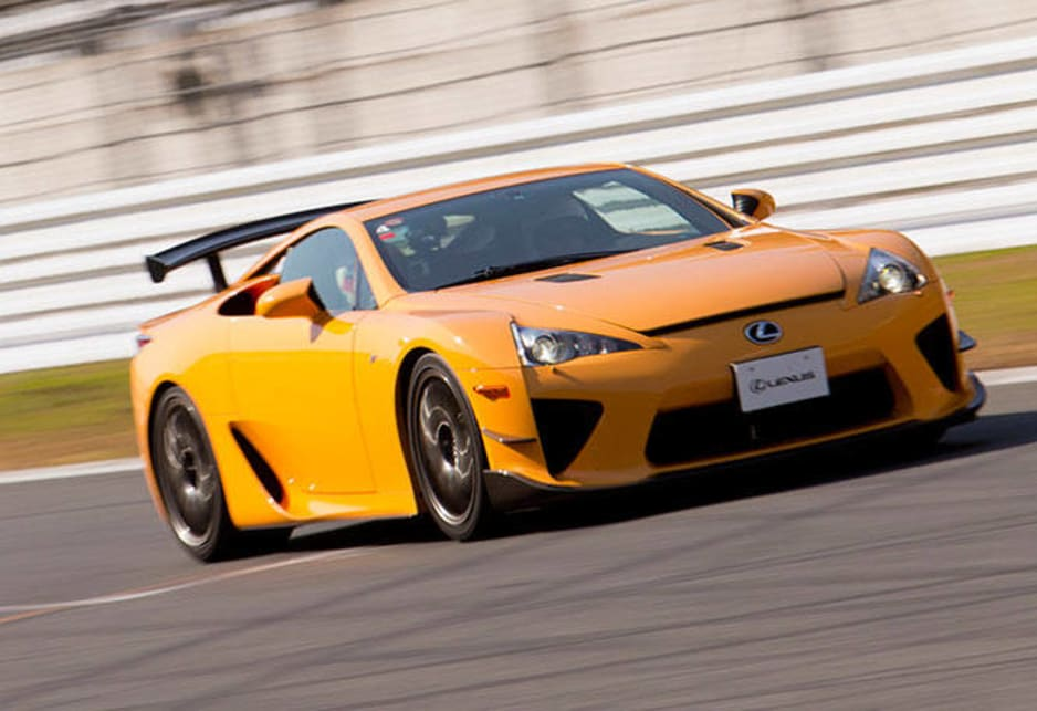 Our drive car wasn't in any old LFA either, but in the super quick Nurburgring special edition with 420kW of power, or 570 horsepower in the old money -- more power than your average V8 supercar.