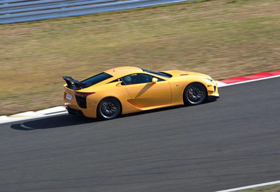 Only 50 LFAs with the Nurburgring Package were produced, a lighter more focused track model with the power boosted from 412 to 420kW and sitting 10mm lower, with a larger fixed wing and deeper front air dam.