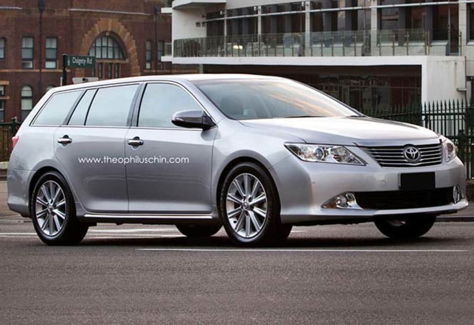 toyota camry wagon rendered car news carsguide
