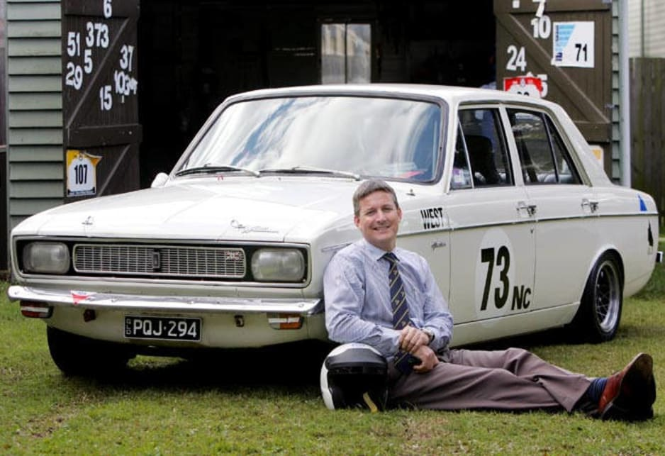 Richard West with his 1970 Hillman Hunter.