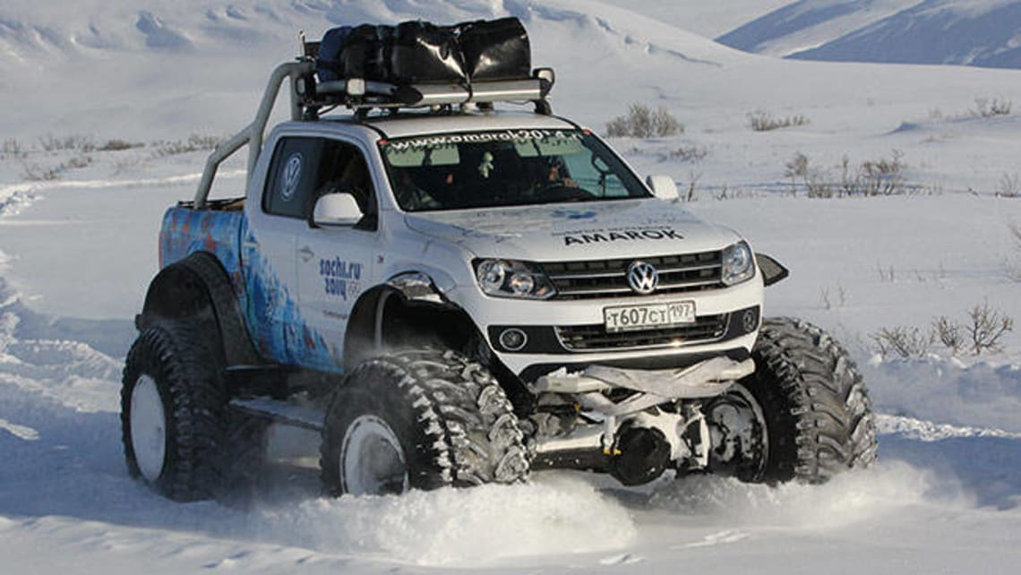 Vw Amarok Tackles Frozen Trek Car News Carsguide